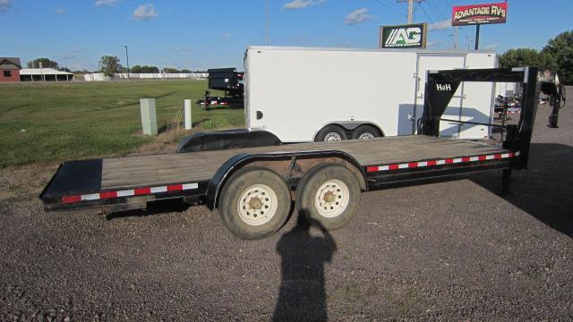 2014 H and H Trailer 8.5X20 Flatbed Trailer