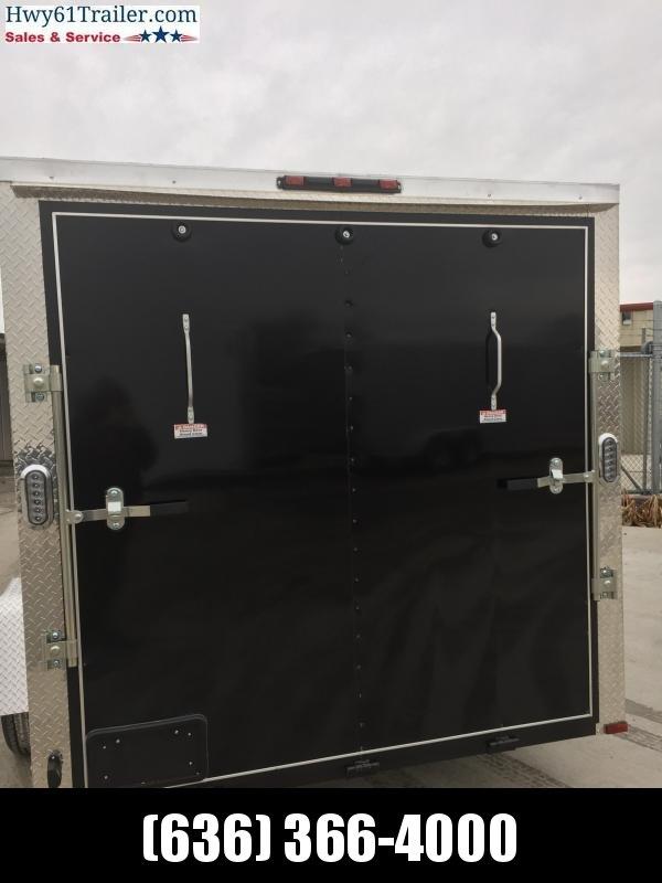 """2020 ARISING 7X12 SA V-nose ramp 3500 lb Axle Lockbar door 6'3"""" Black"""