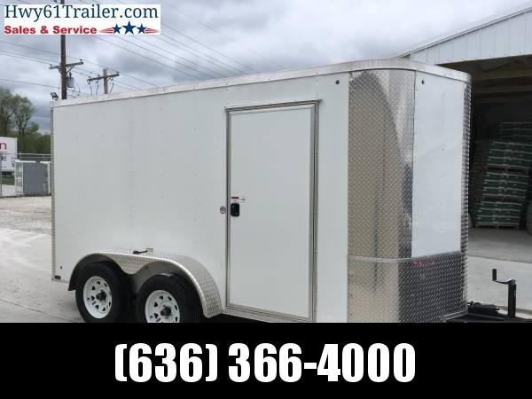 2020 Arising 7X12 TA V-nose RAMP 3500 AXLES ALUMINUM SIDE VENT Enclosed Cargo Trailer