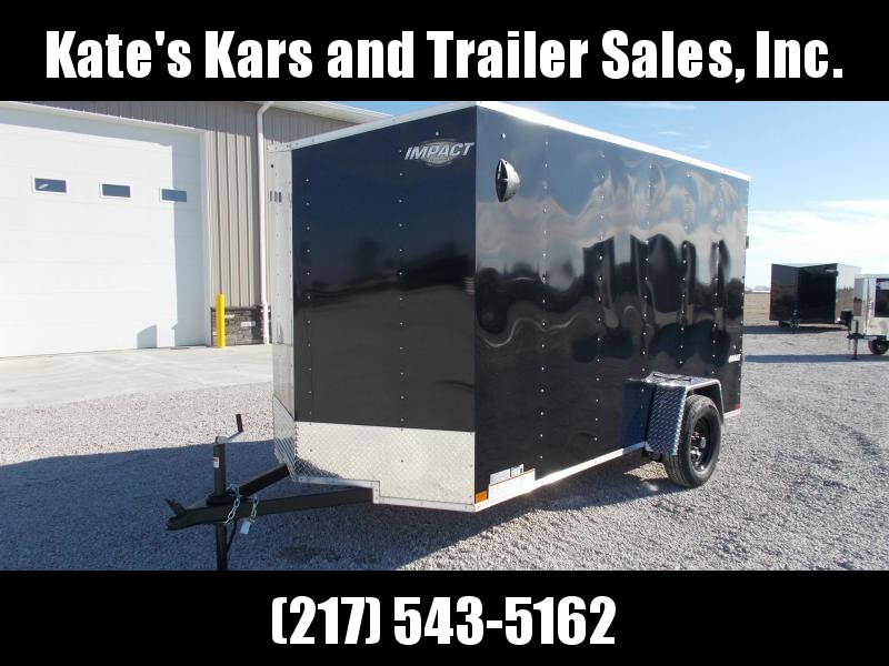 "2020 Impact Trailers 6X12 Single Axle Ramp Door 6""Extra Tall UTV Package Enclosed Cargo Trailer"