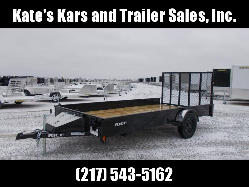 "2020 Rice 82X14' Single Axle 12"" Solid Sides Utility Trailer"