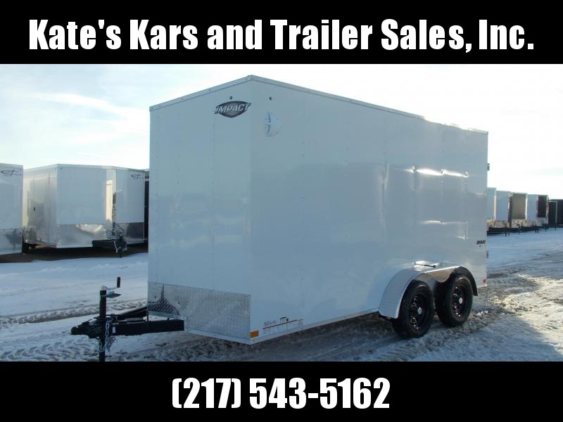 """2021 Impact Trailers 7X14 w/ 12""""+Tall UTV Package Included Enclosed Cargo Trailer"""