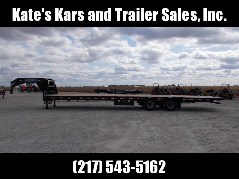 2020 Load Trail 102X36 Hydraulic DoveJacks 10K Axles Flatbed Trailer