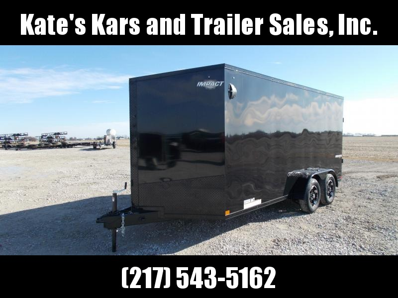 "2020 Impact Trailers 7X16 Blackout&UTV Package 6""Extra Tall 7K GVWR Enclosed Cargo Trailer"