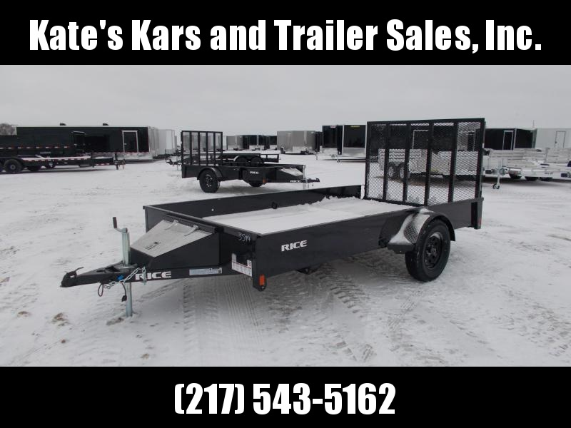 2020 Rice 76X12' Single Axle Solid Side Utility Trailer