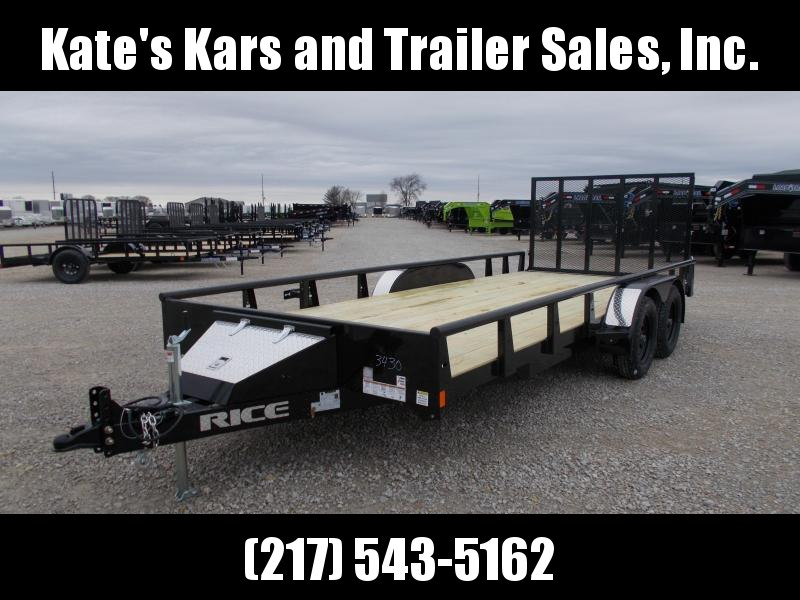 2020 Rice 82X18' Pipe Top 7K Utility Trailer