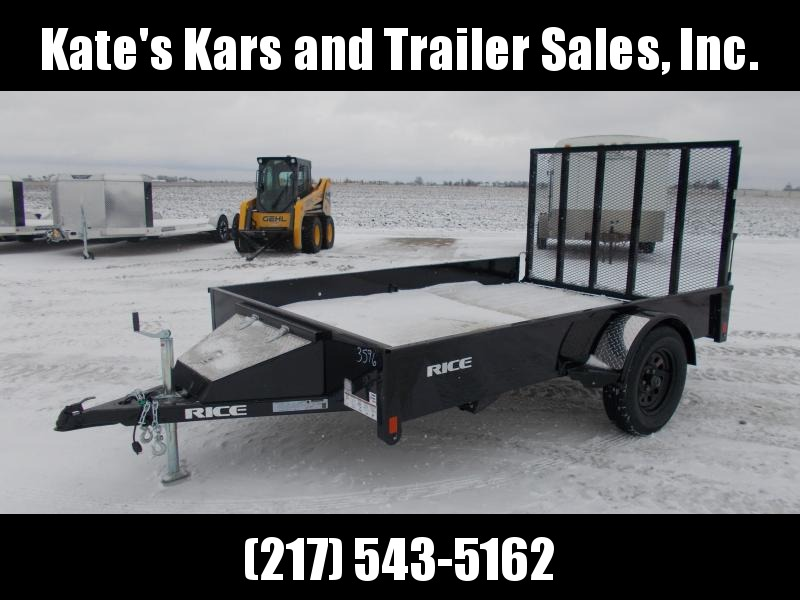 2020 Rice 76X10' Solid Side Single Axle Utility Trailer