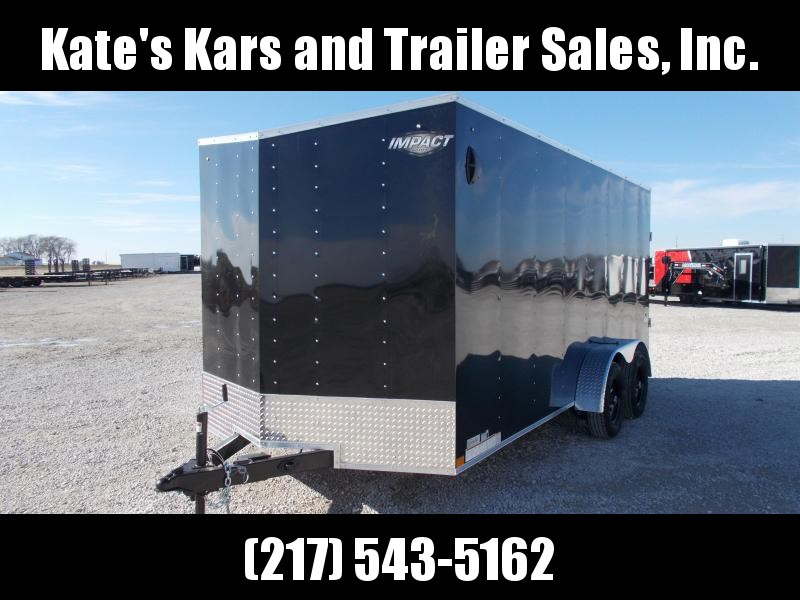 "NEW Impact Trailers 7X16 6"" Extra Tall UTV Package Enclosed Cargo Trailer"
