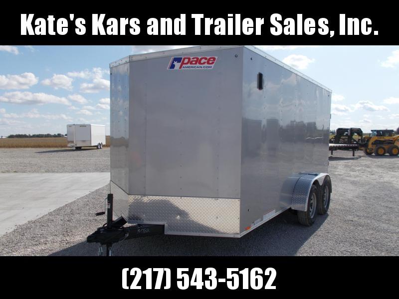 2020 Pace American 7X14 Tandem Axle Side Door rear Ramp Door 6 Extra Tall Enclosed Cargo Trailer