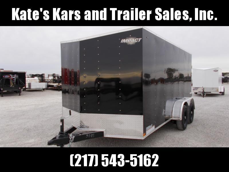 2020 Impact Trailers 7X14 Tandem Axle w/ Side Door and Rear Ramp Door Enclosed Cargo Trailer