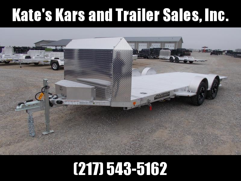 2021 Aluma 82X18' All Aluminum LP Series Tilt Equipment Trailer