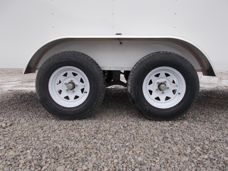"2020 Pace American 7X16 6"" Extra Tall Tandem Axle Ramp Door Side Door Enclosed Cargo Trailer"