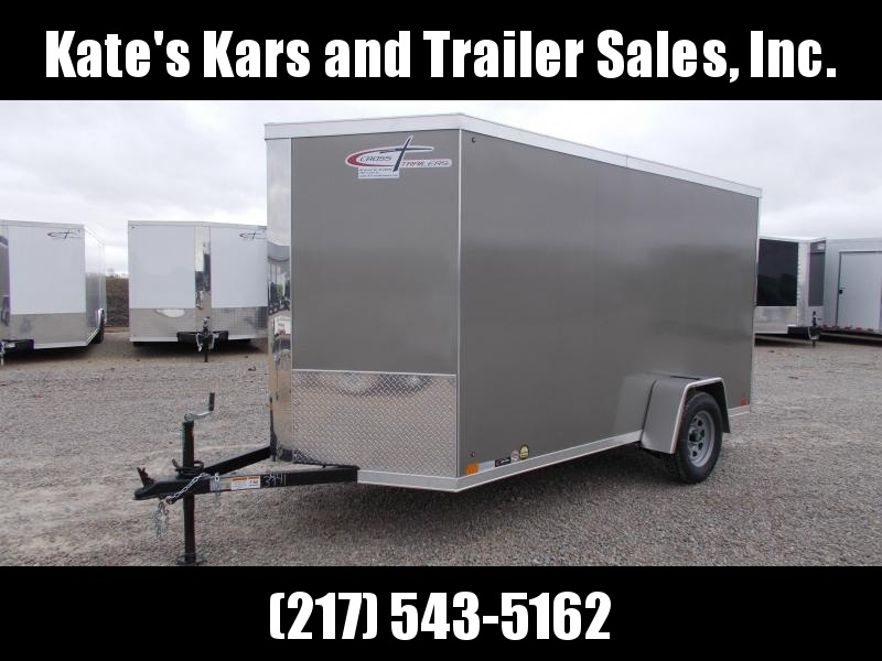 2021 Cross Trailers 6X12 Single Axle Screwless Sides LED Lighting Enclosed Cargo Trailer