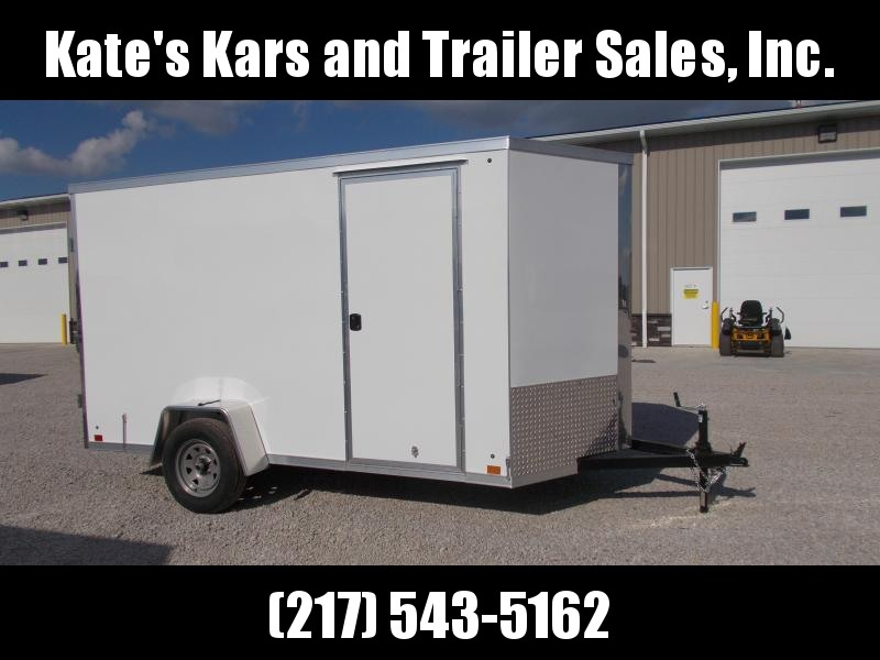 DOUBLE REAR DOORS Cross Trailers 6X12' Extra Tall Enclosed Cargo Trailer