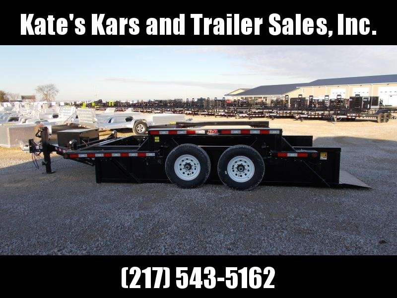 2020 B-B 14' Drop Deck Scissor Hoist 14K Equipment Trailer