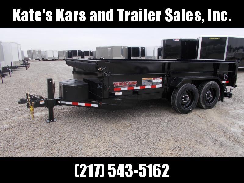 2020 Midsota 14' hydraulic jack 15.4K GVWR Side Door Fork Holders Dump Trailer