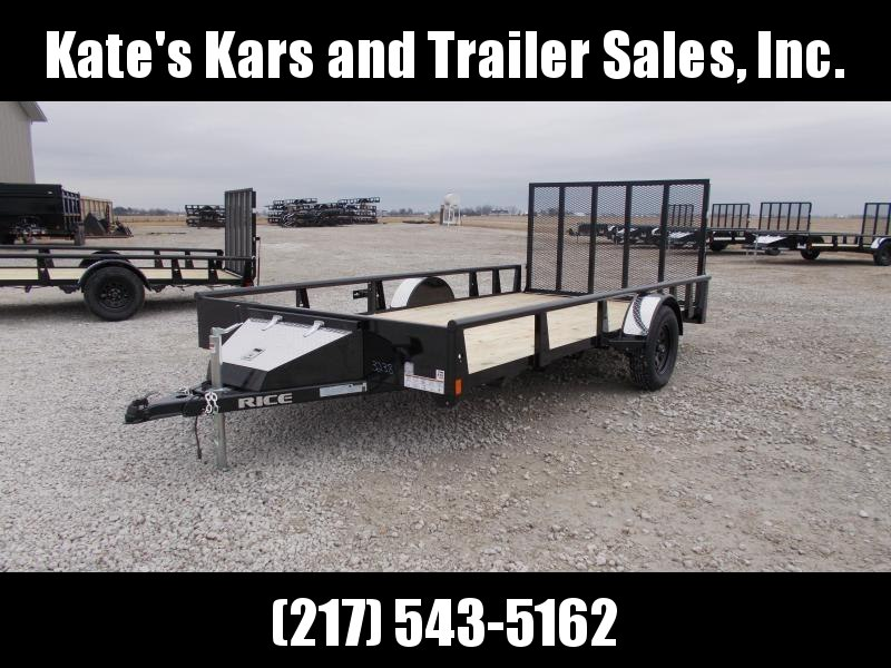 Rice 82X14 Single Axle ATV/UTV Trailer w Toolbox Utility Trailer