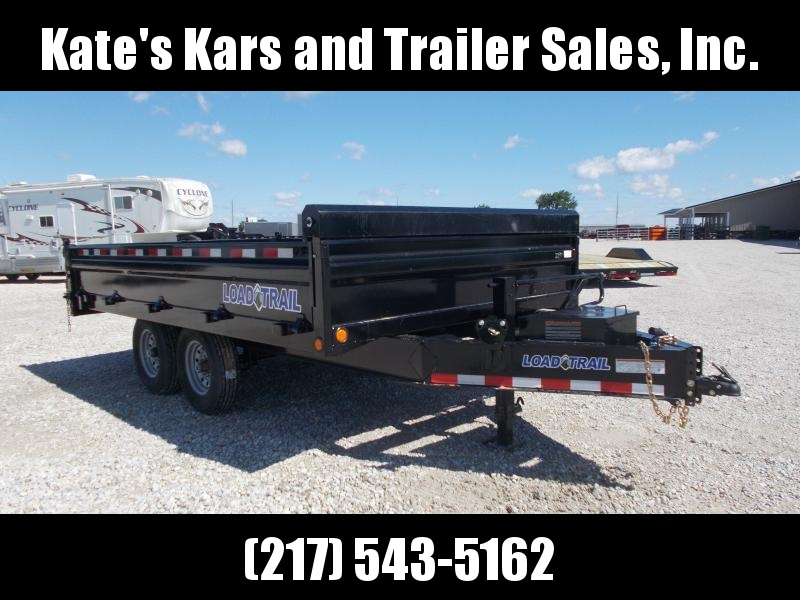 Load Trail DECK OVER FOLD DOWN SIDES 96X14' Dump Trailer 14K LBS
