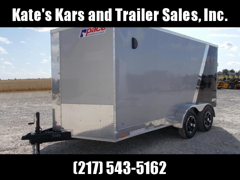 2020 Pace American 7X14 Two Tone Aluminum Wheels Extra Tall Enclosed Cargo Trailer