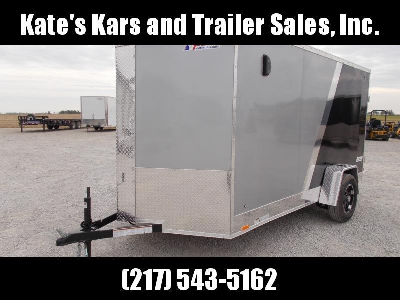 2020 Pace American 6X12 Two Tone Alumnum Wheels Ramp Door Side door Enclosed Cargo Trailer