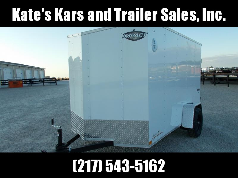 2020 Impact Trailers 6X10 Single Axle Rear Ramp Door Side Door Enclosed Cargo Trailer