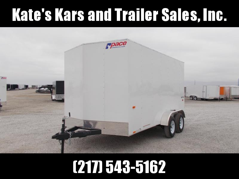 2020 Pace American 7X14 Entry Level Tandem Axle Ramp Door Side Door Enclosed Cargo Trailer