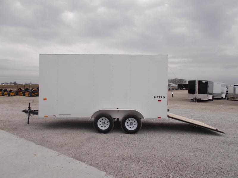 2020 Pace American 7X14 Entry Level Tandem Axle Ramp Door Side Door Enclosed Cargo Trailer