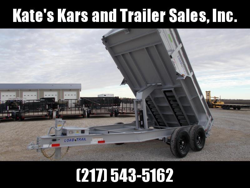 2020 Load Trail 83X14 SILVER 14K w Ramps Tarp Toolbox Dump Trailer