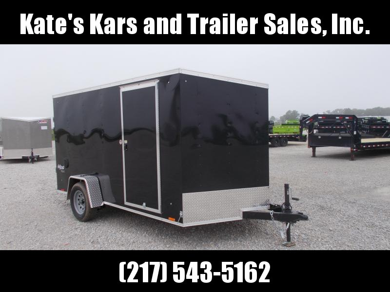 *NEW* Pace BLACK 7X12' Single Axle Enclosed Cargo Trailer