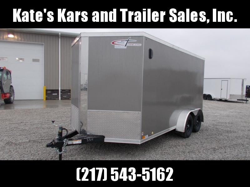 "2020 Cross Trailers 7X14 6"" Extra Tall 4- D Rings Side Vents 7K GVWR Enclosed Cargo Trailer"
