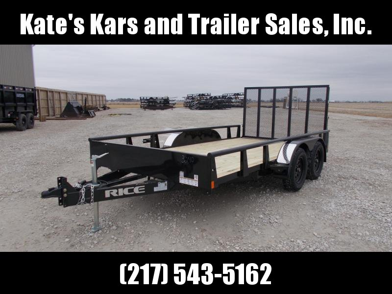 2020 Rice 82X14 Tandem Axle ATV/UTV Utility Trailer