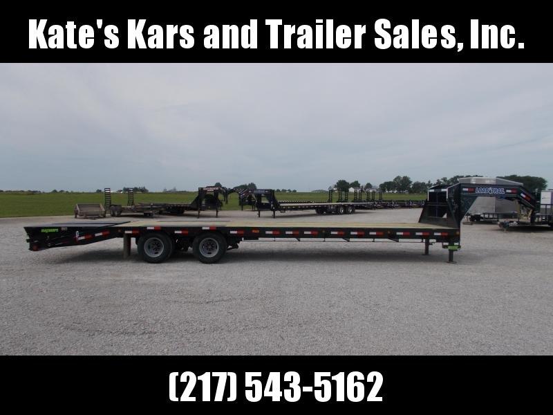 N*E*W* Load Trail 102X32 24K GVWR Flatbed Gooseneck Deck Over Trailer