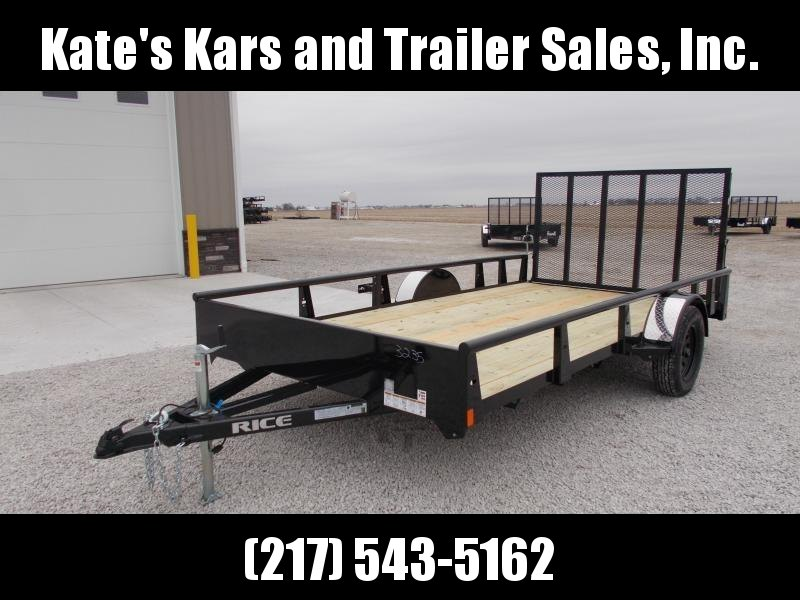 NEWW** Rice 82X14 Single Axle w/ Assisted Gate Utility Trailer