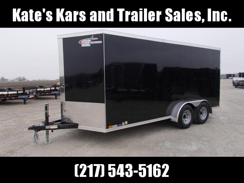 """2020 Cross Trailers 7X16 6""""+Tall 5200# Axles 6 D-Rings Enclosed Cargo Trailer"""