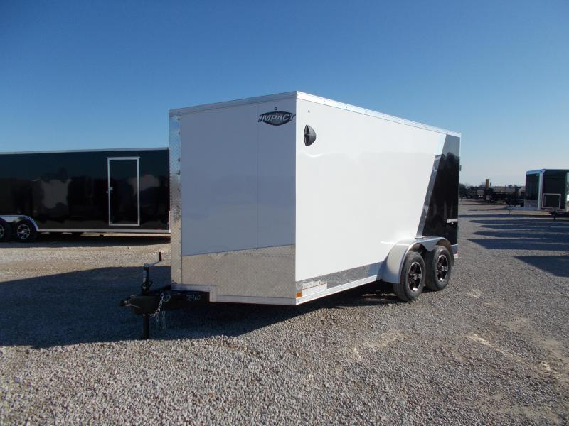 2020 Impact Trailers 7X14 6 Extra Tall Two Tone Aluminum Wheels Enclosed Cargo Trailer