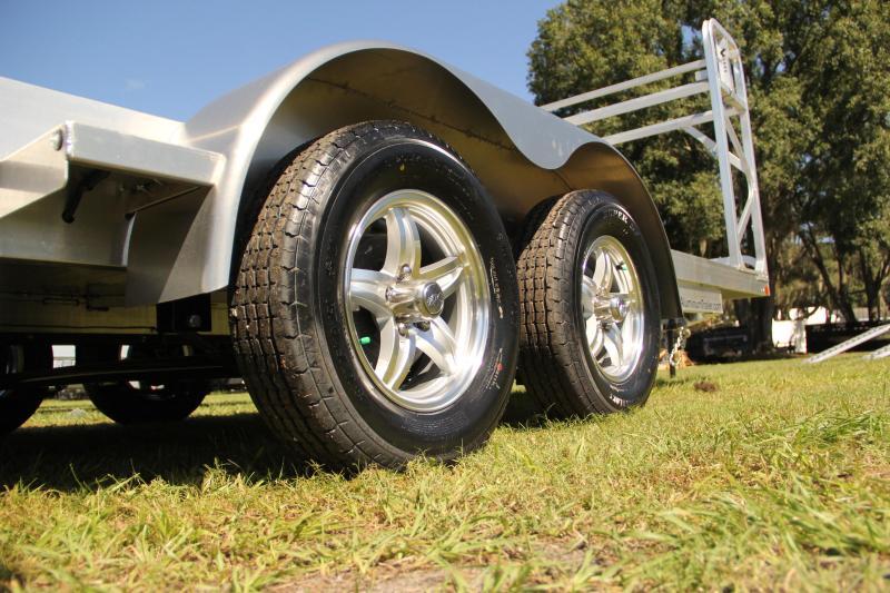 7x18 ATC Trailer | Car / Racing Trailer [Tire Rack]