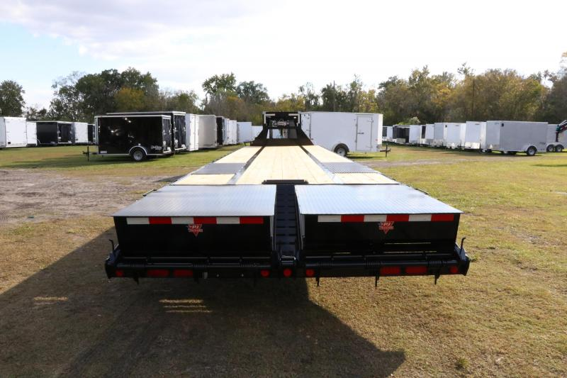 8.5x40 Gooseneck PJ with AIR RIDE | Flatbed Trailer