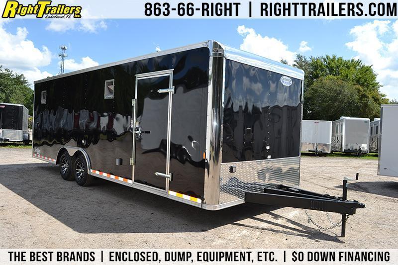 8.5x24 Continental Cargo   Race Car Trailer [Black]