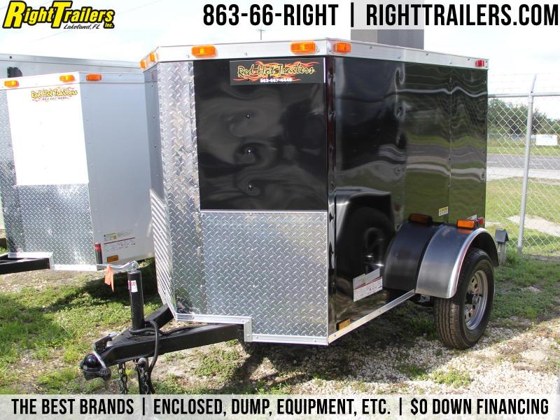 4x6 Red Hot Trailers | Enclosed Trailer [Black]