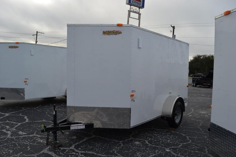 6x10 Red Hot Trailers   Enclosed Trailer