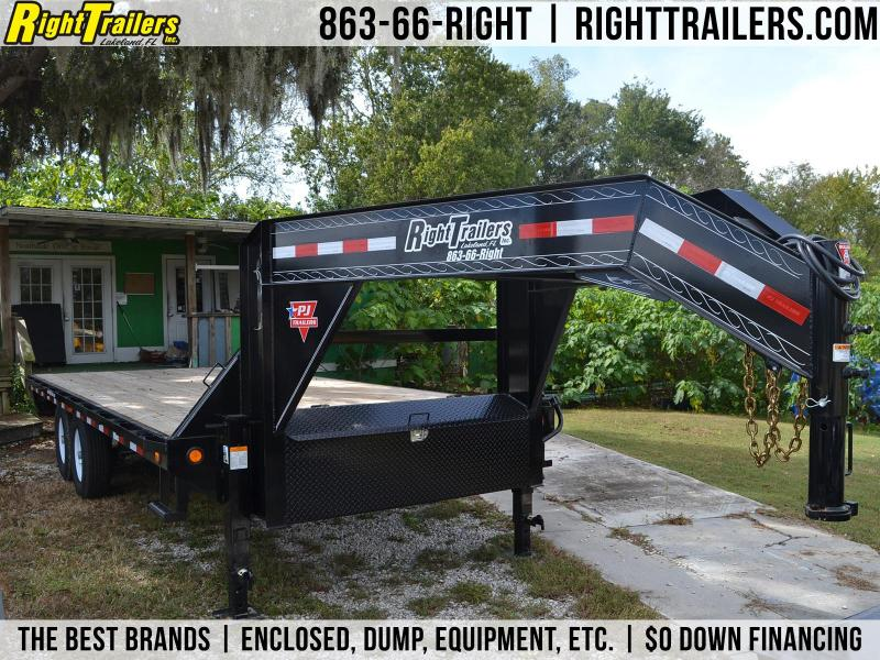 8x20 PJ Trailers | Deckover Equipment Trailer [Gooseneck]