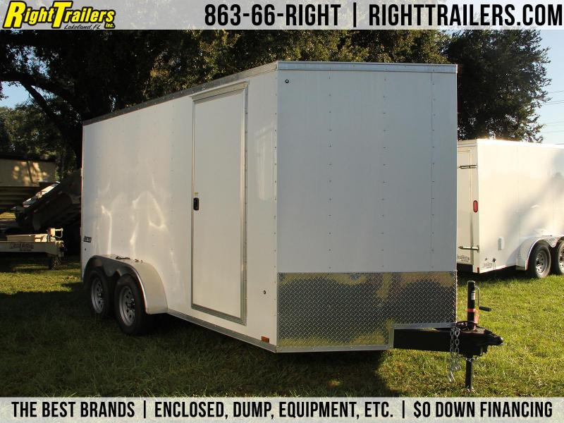 7x14 Pace American Trailer   Enclosed Trailer