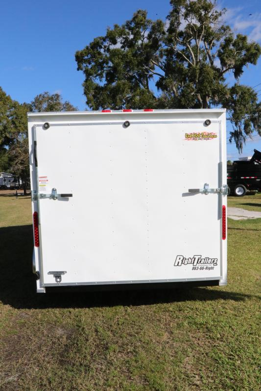 7x16 Red Hot Trailers   Enclosed Trailer
