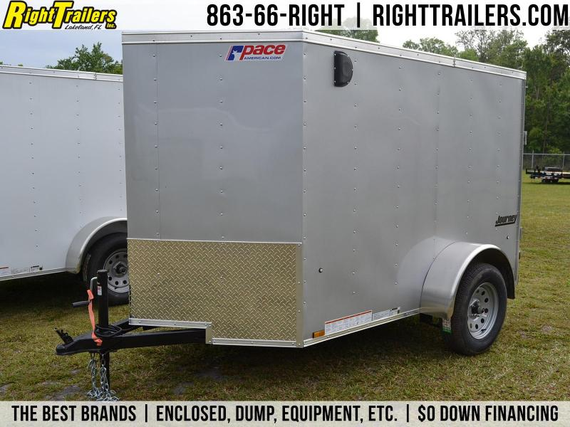 5x8 Pace American   Enclosed Trailer