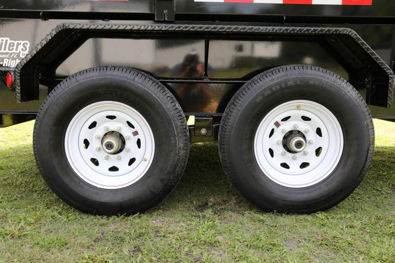 7x14x4 (2+2 side kit) PJ |  Dump Trailer | 24'' Side Kit Installed | Tandem Axle