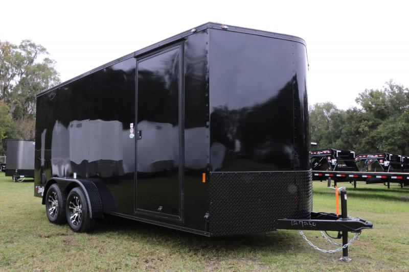 7x16 Continental Cargo | Enclosed Trailer ( With Black Out Kit)