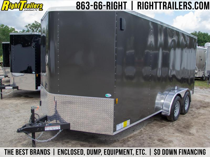 7x16 Continental Cargo | Enclosed Trailer [Charcoal Gray]
