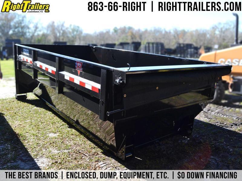 7x14x4 PJ Roll Off   Rollster Bin Dump Trailer