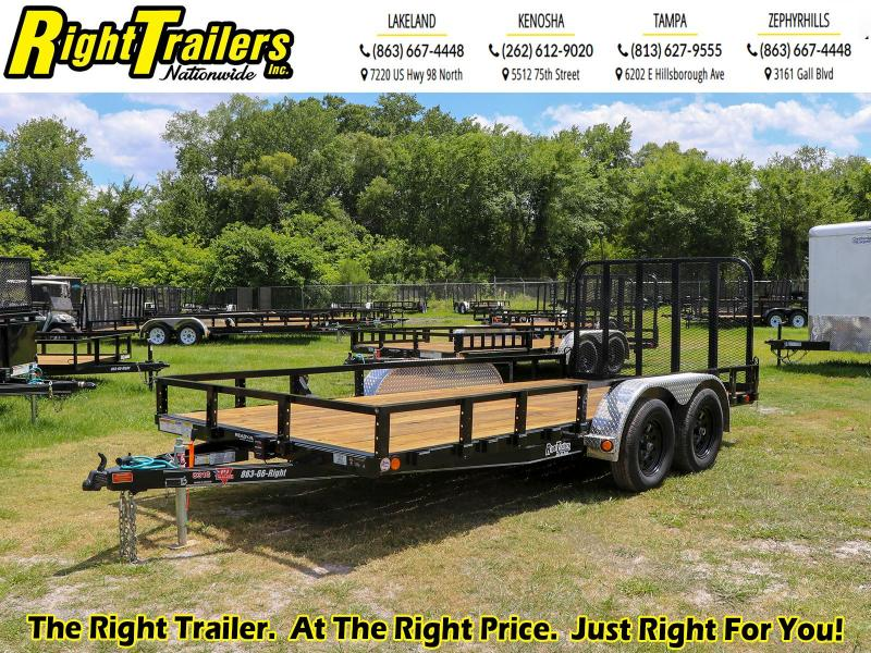 7X16 PJ Trailers 83 in. Tandem Axle Channel Utility (UL) Utility Trailer