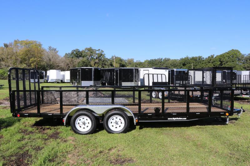7X20 PJ Trailers 83 in. Tandem Axle Channel Utility (UL) Utility Trailer